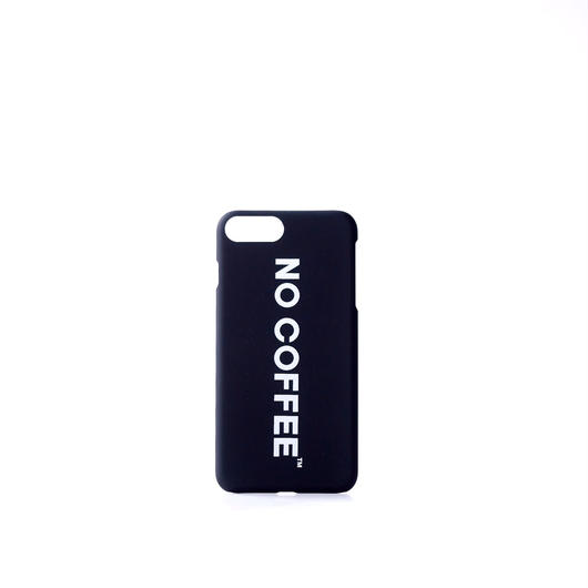 NO COFFEE iPhone7Plus・8Plus兼用ケース(ブラック)