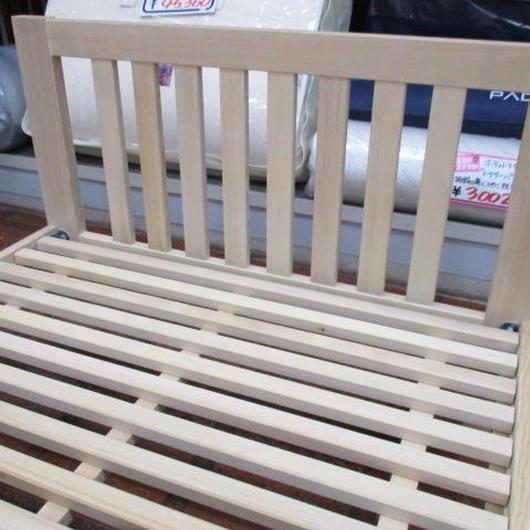 ツガ無垢材のすのこベッド(シングルサイズ)