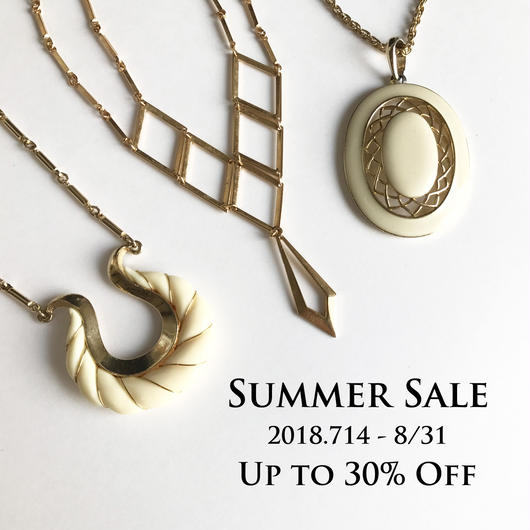 SUMMER SALE UP TO 30% OFF 開催中!8/31(金)まで!