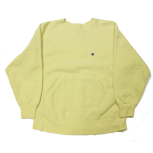 80's Champion Reverse Weave Sweat Shirt  (L) チャンピオン リバースウィーブ レモンイエロー 無地 目付き