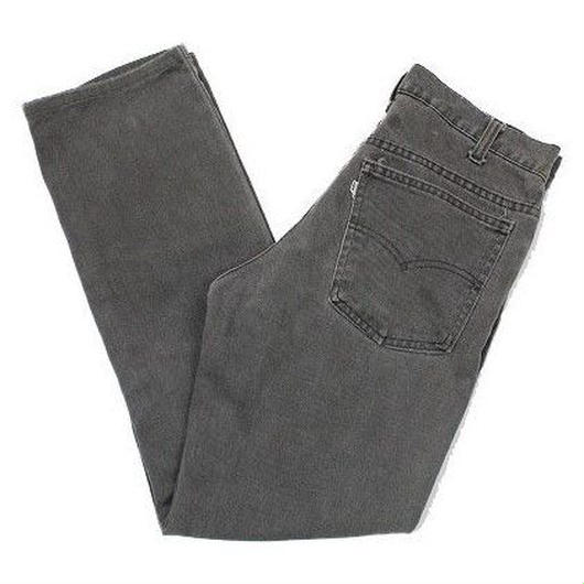 80's Levi's 509 9758 Cotton Twill Pants BLACK  (30) リーバイス カツラギ ブラック 黒