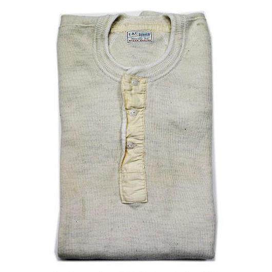 NOS 〜40's BODYGARD Long Sleeve Henley Neck L/S T-Shirts (46) デッドストック ボディガード ヘンリーネック Tシャツ オートミール