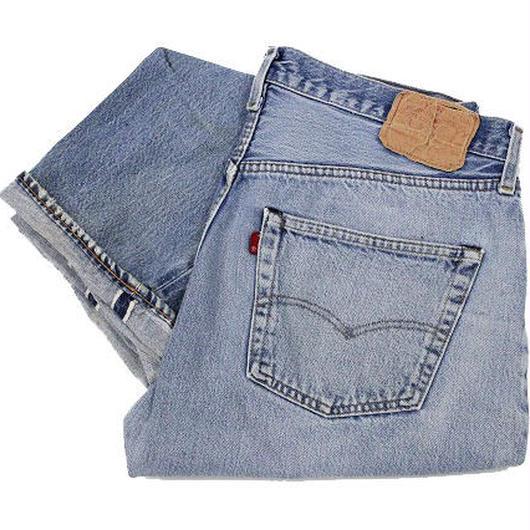 80's Levi's 501 Denim Pants RED LINE (38×31) リーバイス デニムパンツ赤耳 (実寸35×28) ライトブルー