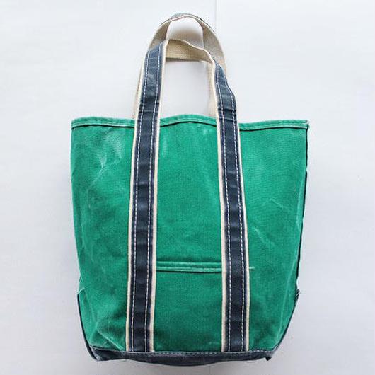 80's L.L.BEAN DELUXE BOAT&TOTE TALL SIZE GREEN/NAVY L.L.ビーン デラックストート トールサイズ 緑/紺