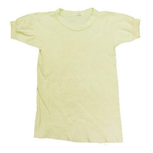 50's〜 Hanes Plain Heavy Weight  Cotton T-Shirt (M) ヘインズ ヘビーウェイト コットンTシャツ フライス地 袖リブ