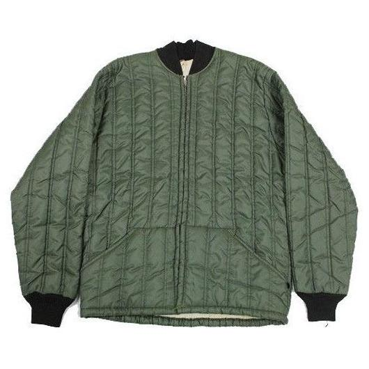 NOS 60's Unknow Quilted Liner Jacket (S) デッドストック ナイロン キルティング ライナー ジャケット