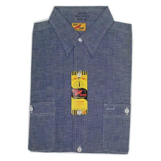 NOS 50's RED RAM Chambray Shirt (15) デッドストック シャンブレーシャツ