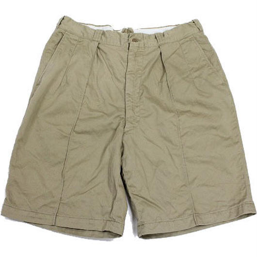 50's U.S.ARMY SHORTS,MAN'S,COTTON,UNIFORM TWILL 8.2oz.KHAKI,SHADE NO.1 (w34 R) チノショーツ