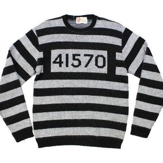 60's Jantzen Prisoner Costume Stripe Knit Sweater (L) ジャンセン プリズナー コスチューム デザイン ボーダー ニット セーター