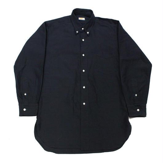 60's MOON Swallow B.D.Shirts Black (M)2点留め かすり地 ボタンダウンシャツ  黒 マチ付き