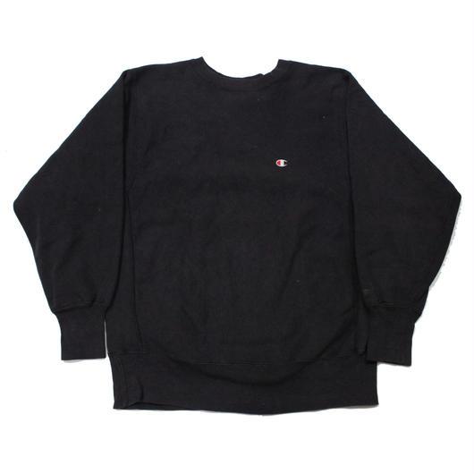90's Champion Reverse Weave Sweat Shirt Black (L) チャンピオン リバースウィーブ 黒 無地 目付き