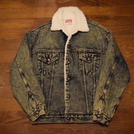 """80's  """"Levi's""""  Boa jacket  chemical wash"""