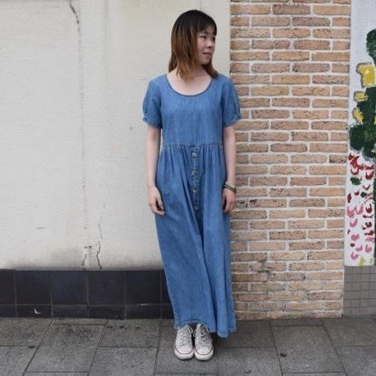 """denim long one-piece"" Made in USA !!!!!"