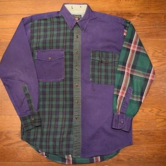 "90's  ""CHAPS""  Crazy Pattern shirt"