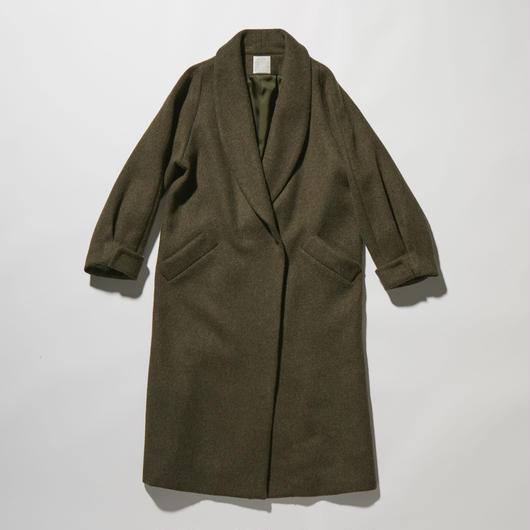 BEAVER MELTON SHAWL COLLAR COAT【WOMENS】