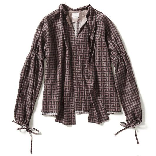 HAREQUIN TIE COLLAR BLOUSE 【WOMENS】