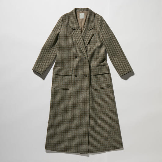 TWEED LONG CHESTER COAT【WOMENS】