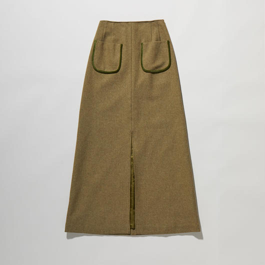 FRONT SLIT LONG SKIRT【WOMENS】