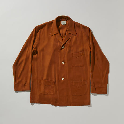 RAYON TWILL SHIRT JACKET【MENS】