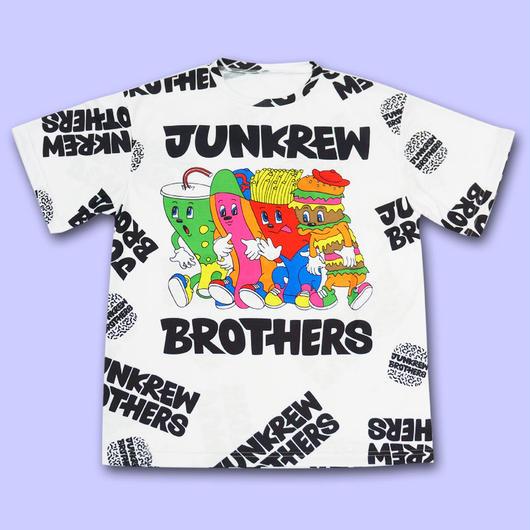 【予約商品 6月下旬以降お届け】JUNKREW BROS. ALL OVER PRINT T-Shirts