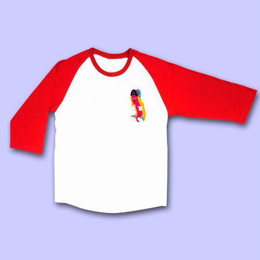 【予約商品 6月下旬以降お届け】 KIDPUP G-DOG RAGLAN SLEEVE T-Shirts