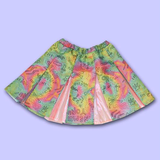 【予約商品 6月下旬以降お届け】ROUGH SKETCH ALL OVER PRINT Cheer Skirt