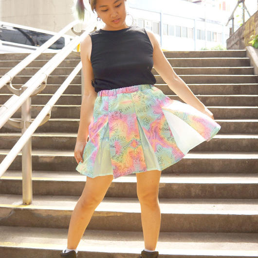 ROUGH SKETCH ALL OVER PRINT Cheer Skirt〈NZ003〉