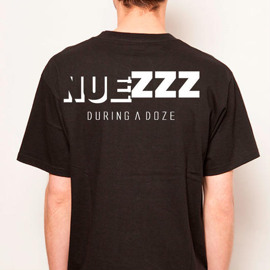 【予約商品 7月中旬からお届け】 NUEZZZ NAP LOGO PRiNT T-Shirts -SHADOW LOGO BACK PRiNT-