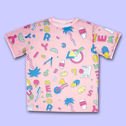 【予約商品 6月下旬以降お届け】STATiONERY MEMORY ALL OVER PRINT T-Shirts