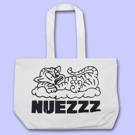 NUEZZZ LOGO STiCKiLY PRiNT Big Tote Bag〈NZ012〉