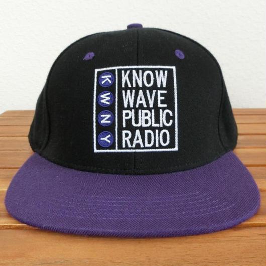 Know Wave ノウウェーヴ Public Radio Hat スナップバックキャップ パープル