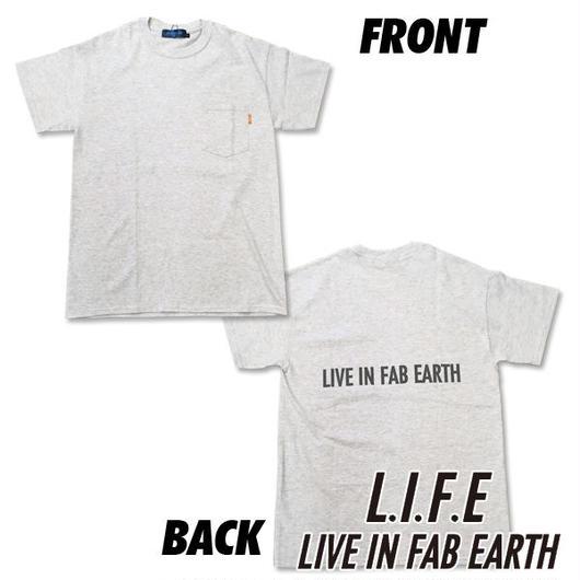 限られたセレクトショップで展開するL.I.F.E [ LIVE IN FAB EARTH ](ライフ)PKS Tシャツ アッシュグレイ【スケートボードアパレル】