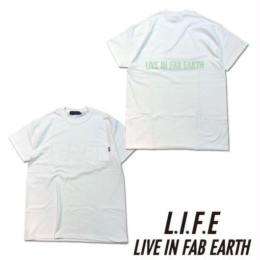 L.I.F.E [ LIVE IN FAB EARTH ](ライフ)PKS Tシャツ ホワイト