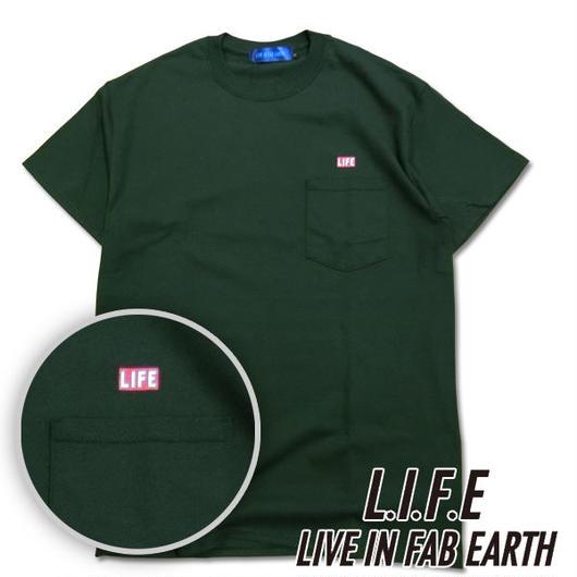 L.I.F.E [ LIVE IN FAB EARTH ]リブインファブアース(ライフ)LIFE Tシャツ グリーン