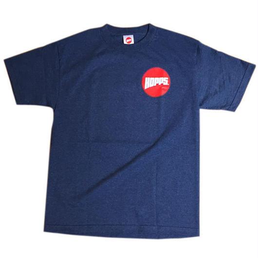 HOPPS【ホップス】東海岸スケートシーンの重鎮Jahmal Williamsが放つスケートブランド!HOPPS SUN Tシャツ へザーデニム