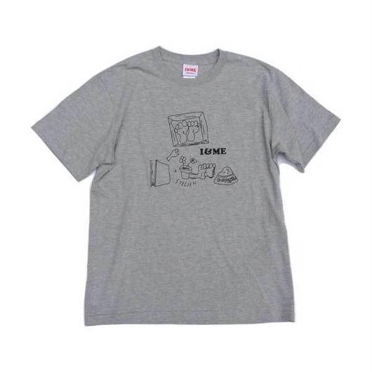 I&MEアイアンドミー 東京発ユニセックスストリートブランド Drawing Teeグレイ ストリート系ガールズファッション