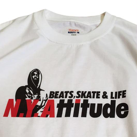N.Y.ATTITUDE 90sヒップホップムービーJuice BISHOP TEE(2PAC)ホワイト