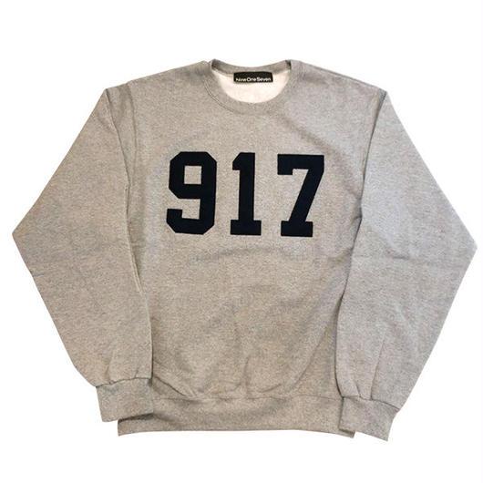 Call me917 Varsity Applique クルースウェットグレー bianca chandonを手掛けるアレックスオルソンのスケートブランド!US買付  のコピー