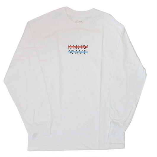 Know Wave ノウウェーヴKnow Wave Wavelength ロングスリーブTシャツ WhiteロンT