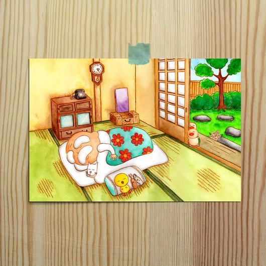 ポストカード じーさんシリーズ 「お昼寝」