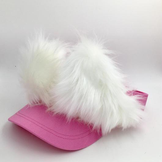 招き猫サンバイザー ピンク