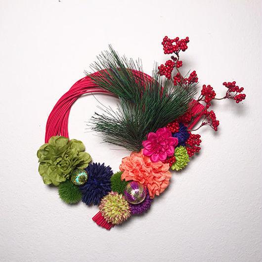 水引とアートフラワーのお正月飾り(大)♪ 花言葉は「感謝」「ありがとう」