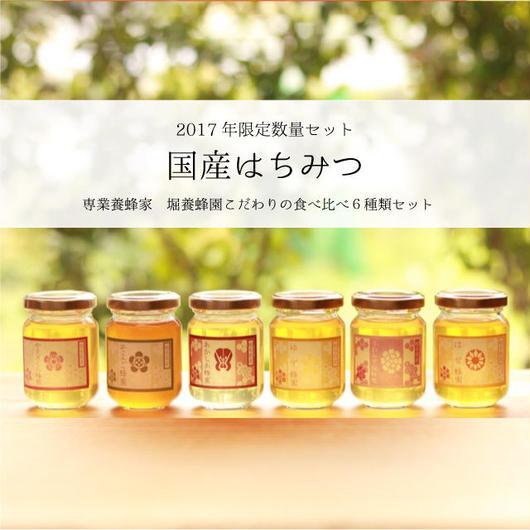 【国産はちみつ】限定セット 専業養蜂家 堀養蜂園の国産はちみつ食べ比べ6種セット