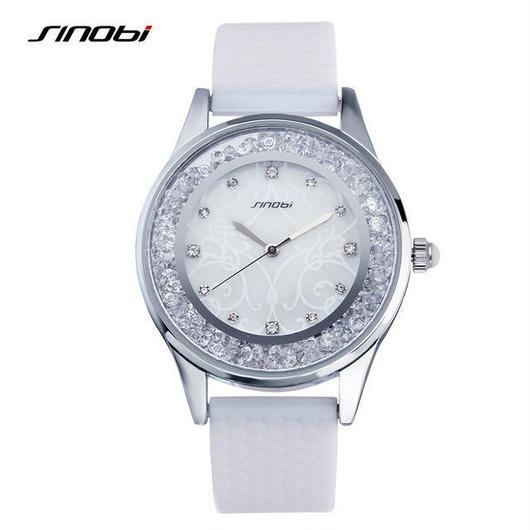 Sinobi レディース シリコン腕時計 防水