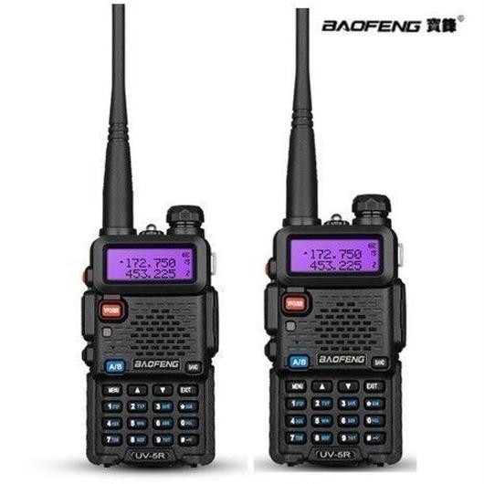 2台×1セット VHFUHF デュアルバンドトランシーバー Baofeng Pofung UV-5R
