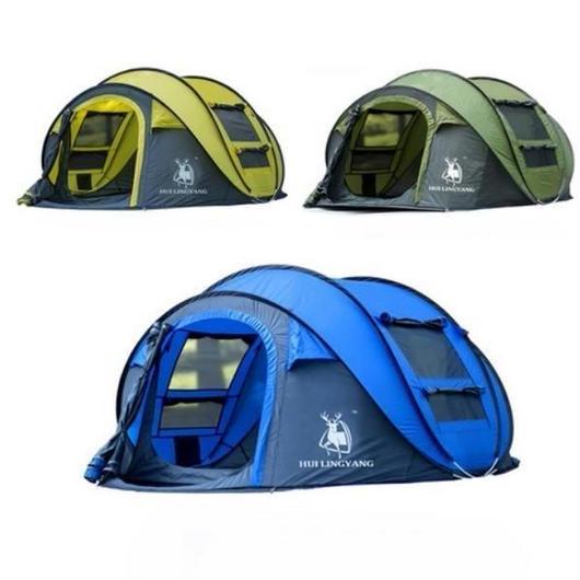HUI LINGYANG ポップアップ テント 防風・防水 投げるだけで簡単設置 3~4人用 アウトドア