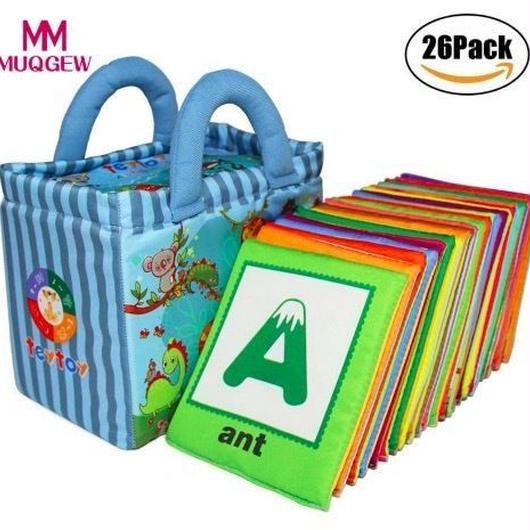 ソフトアルファベット知育カード 動物園シリーズ26ピース 赤ちゃん おもちゃ 子供 メモリペアゲーム
