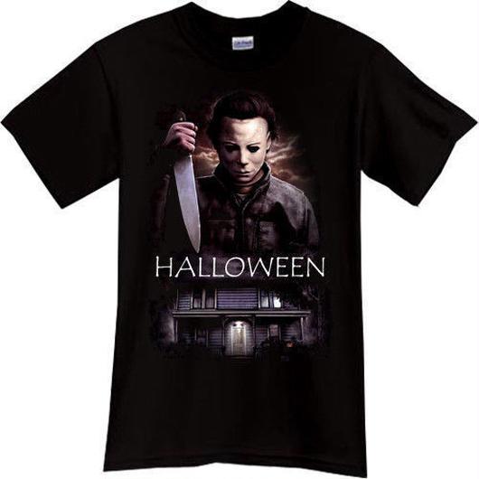 ハロウィーン マイケルマイヤーズ (Halloween Michael Myers)ソリッドホラー映画ハロウィンマスクTシャツ 2
