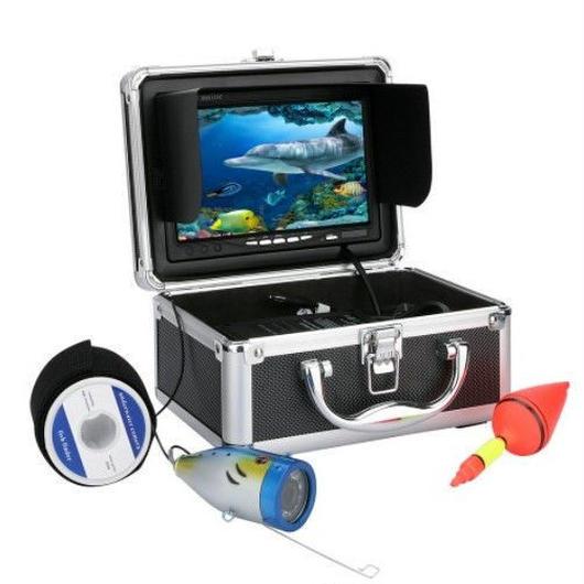 白色LEDライト 50Mケーブル 7インチモニター 水中カメラ 水中釣りカメラキット 釣りカメラ フィッシング GAMWATER 1000tvl
