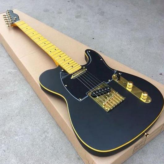 エレキギター ブラックゴールド グローバルカスタムギター ケースなし